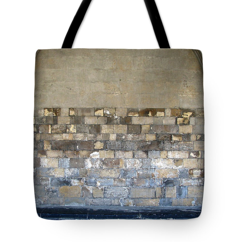 Wall Tote Bag featuring the photograph Golden Wall by Stephanie Grant
