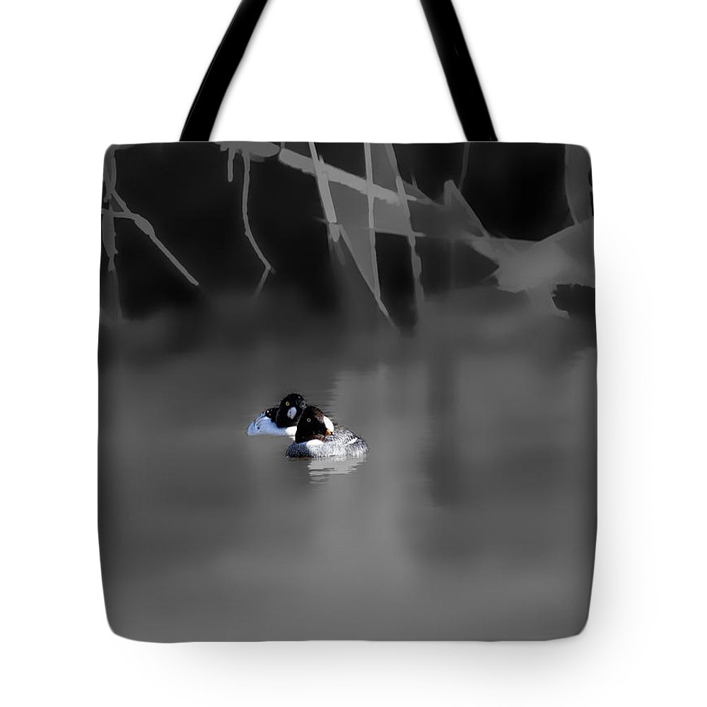Female Tote Bag featuring the photograph Goldeneyes Dreamland By Leif Sohlman by Leif Sohlman