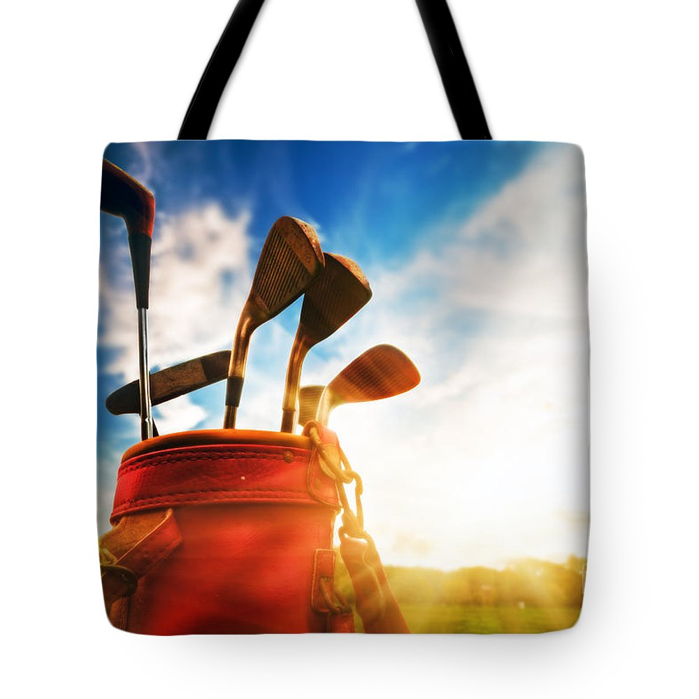 Golf Tote Bag featuring the photograph Golf Equipment by Michal Bednarek