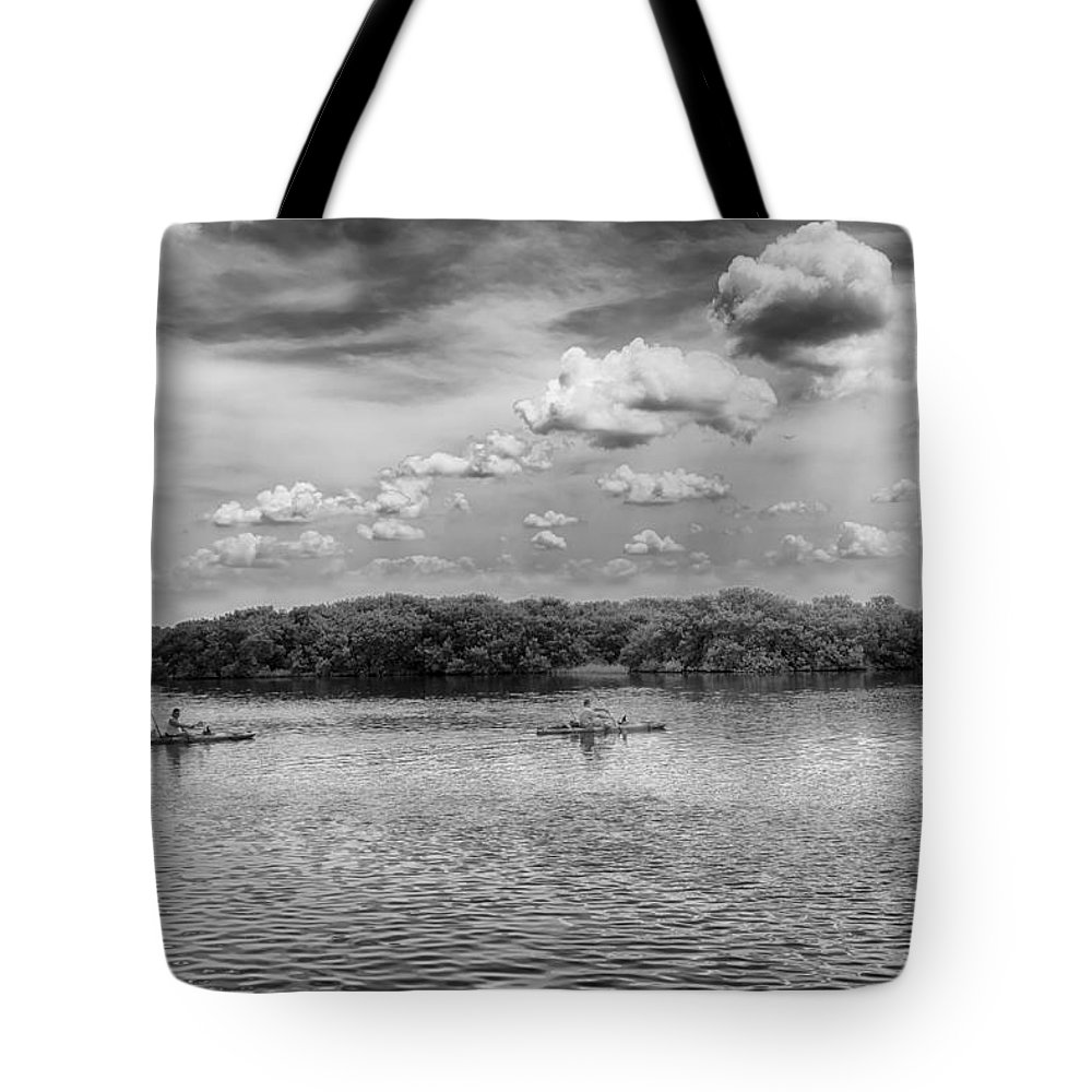 Tote Bag featuring the photograph Gone Fishing by Howard Salmon