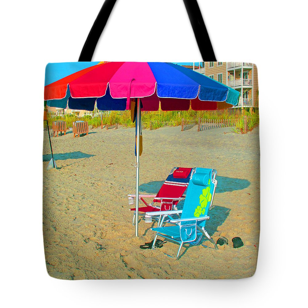 Landscape Tote Bag featuring the photograph Gonna Be A Hot One by Barbara McDevitt