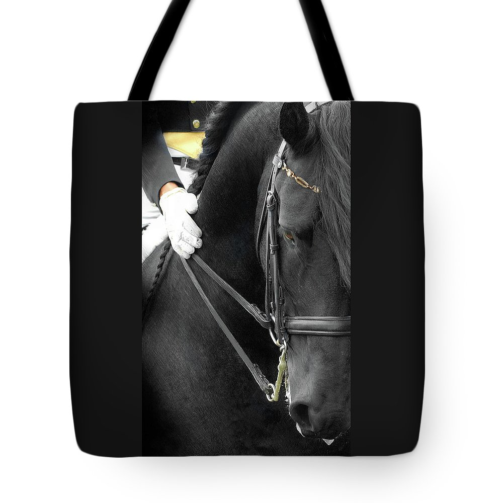 Friesian Competition Tote Bag featuring the photograph Good Boy by Fran J Scott