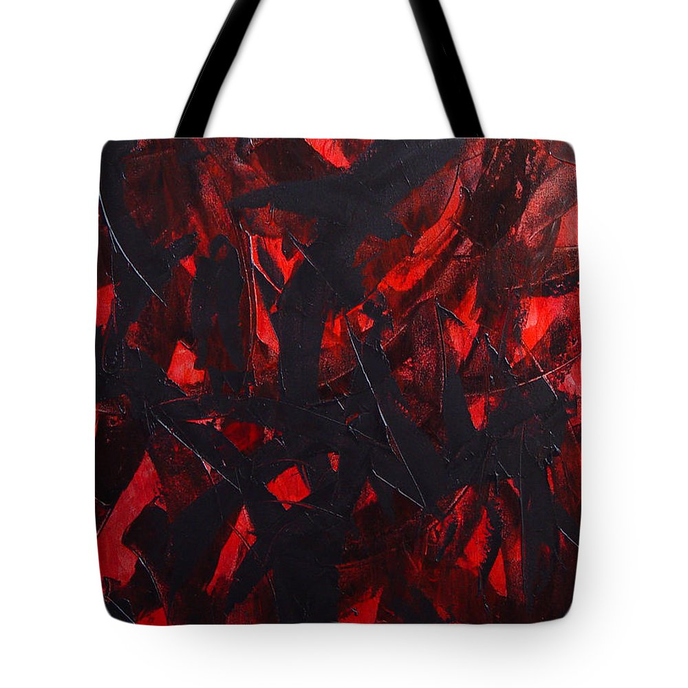 Abstract Tote Bag featuring the painting Good Bye by Dean Triolo