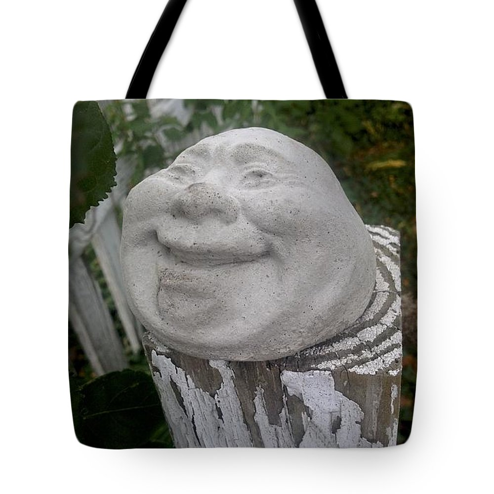Fence Post Tote Bag featuring the photograph Good Laugh by Joseph Yarbrough