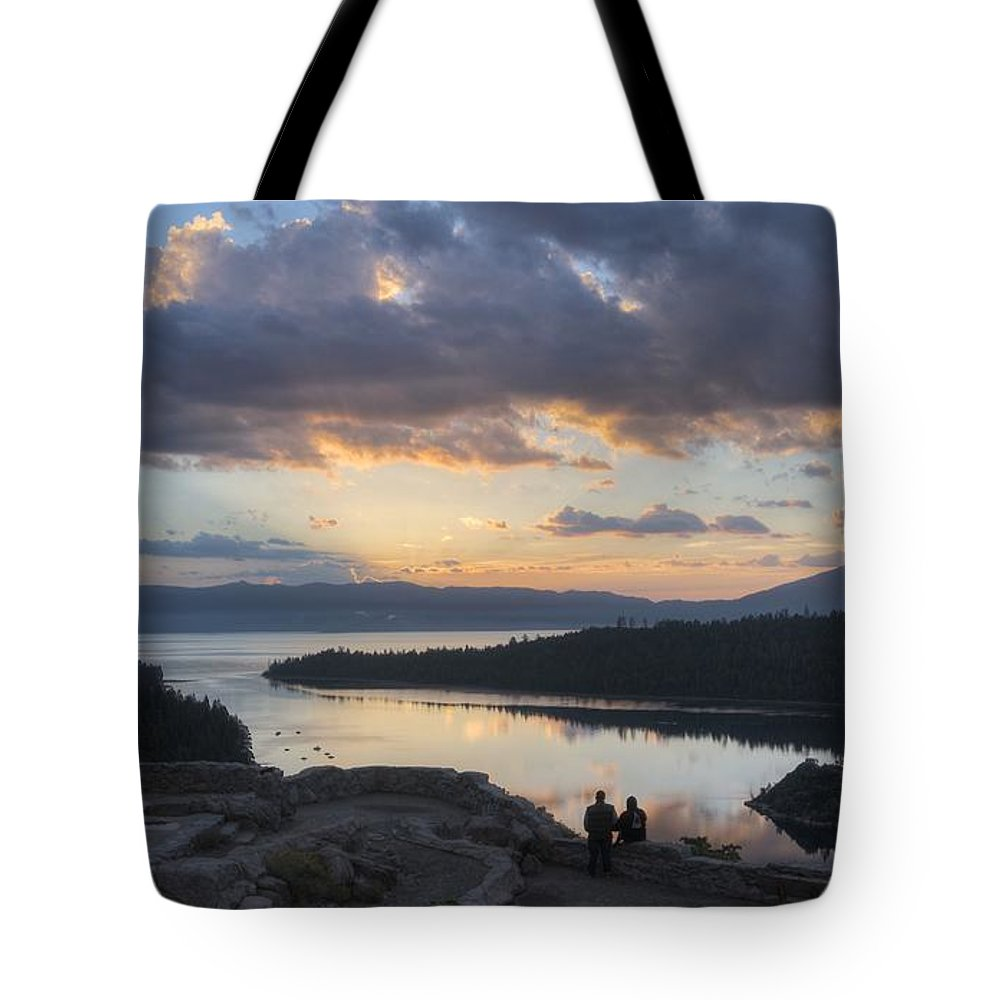 Emerald Bay Tote Bag featuring the photograph Good Morning Emerald Bay by Peter Thoeny