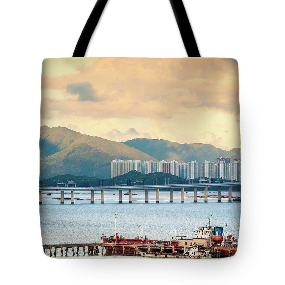 Outdoors Tote Bag featuring the photograph Good Morning Shenzhen & Hong Kong by Capturing A Second In Life, Copyright Leonardo Correa Luna