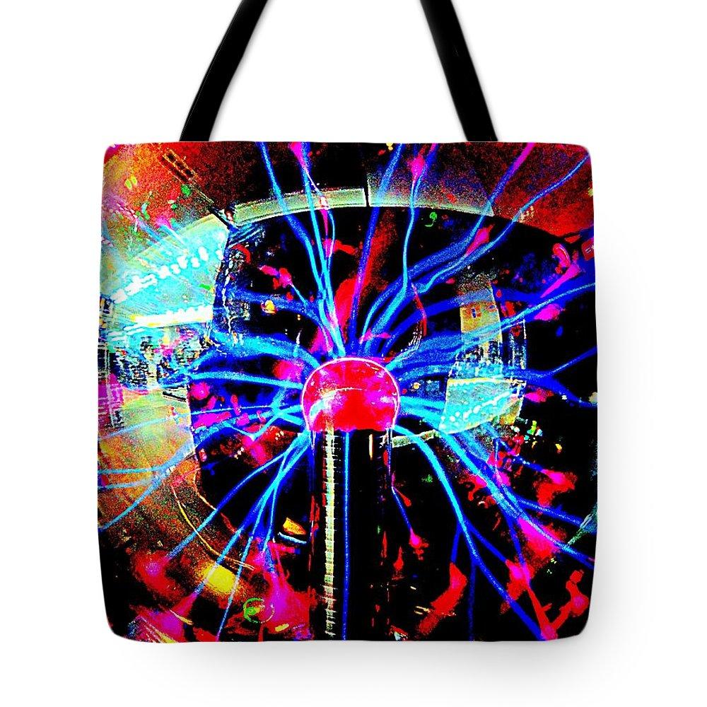 Pop Art Tote Bag featuring the digital art Good Vibrations by Ed Weidman