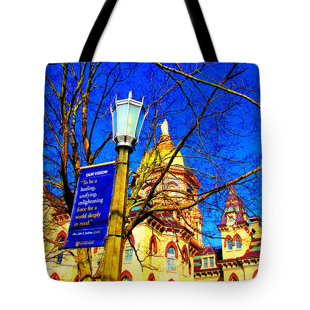 Ndu Tote Bag featuring the photograph Good Vision By The Administration Building by Tina M Wenger