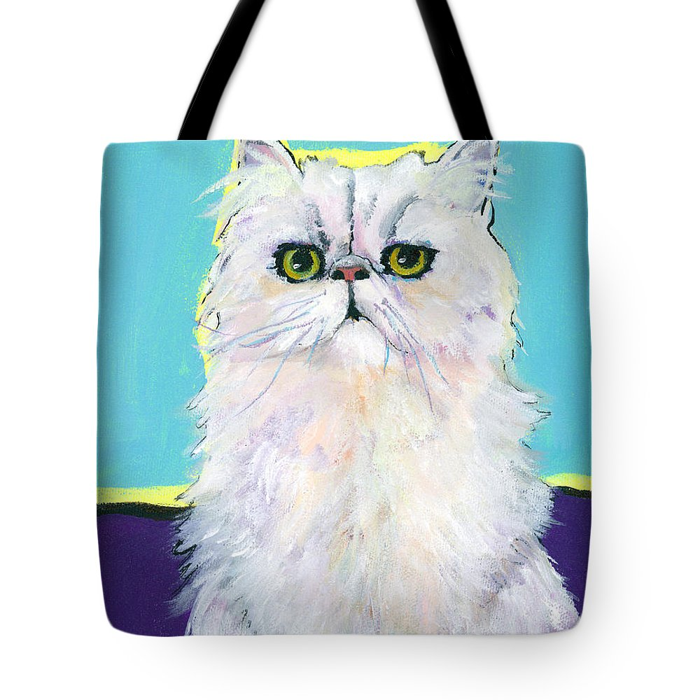 Pat Saunders-whte Tote Bag featuring the painting Cameo by Pat Saunders-White