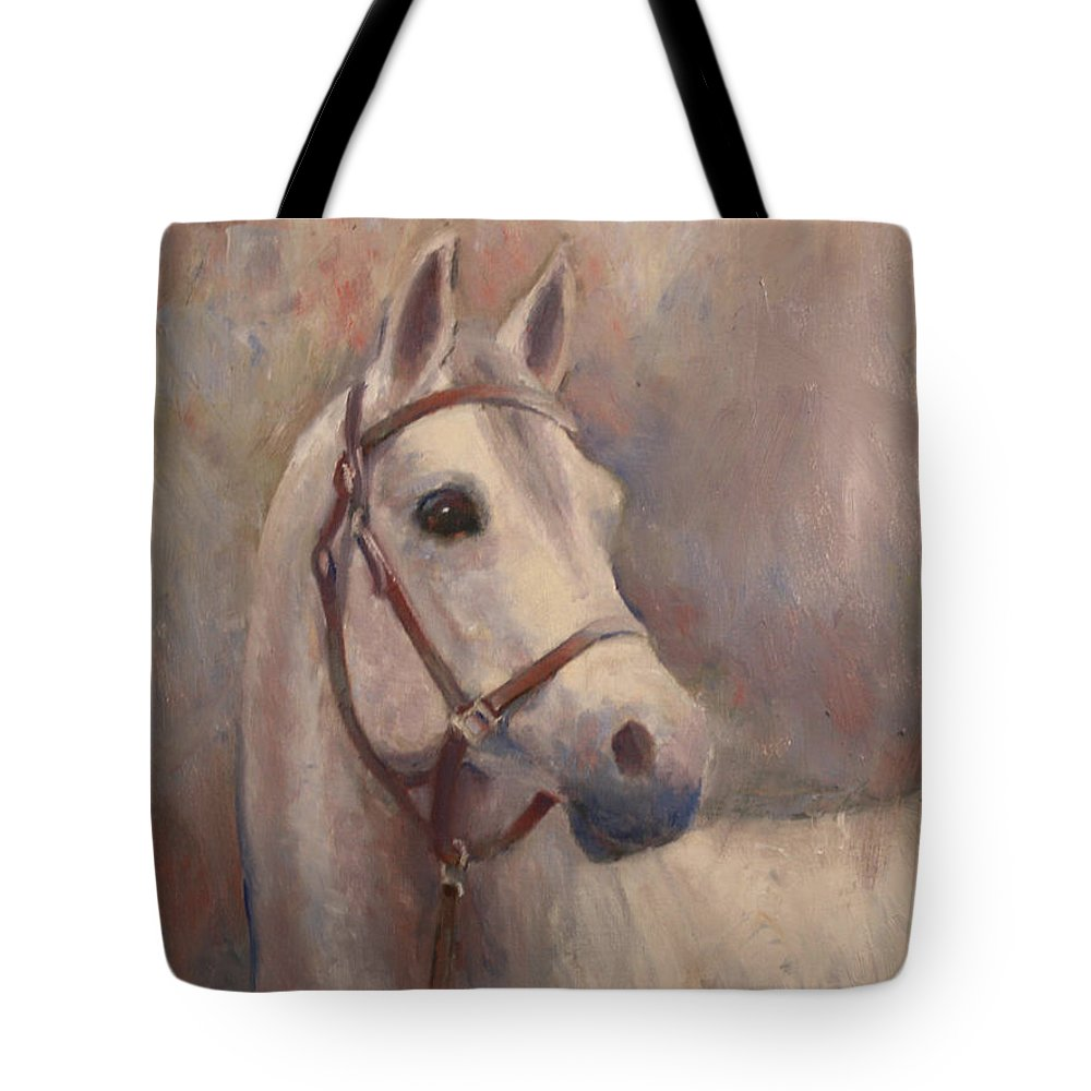 Painting Tote Bag featuring the painting Gorgeous Girl by Sarah Parks