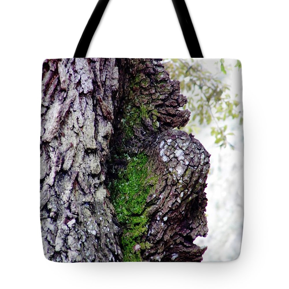 Oak Tote Bag featuring the photograph Gorilla Face In The Tree by D Hackett