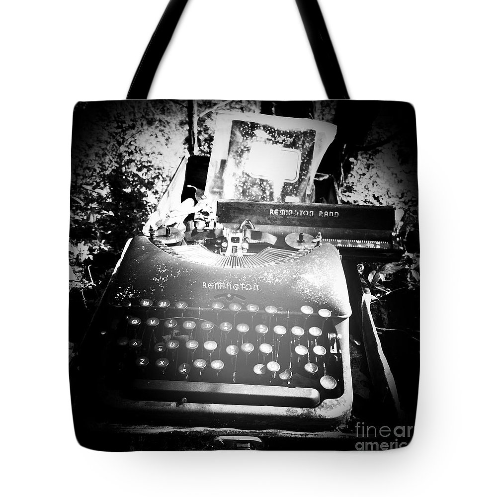 Traci Bunkers Tote Bag featuring the photograph Gost Writer by Traci Bunkers