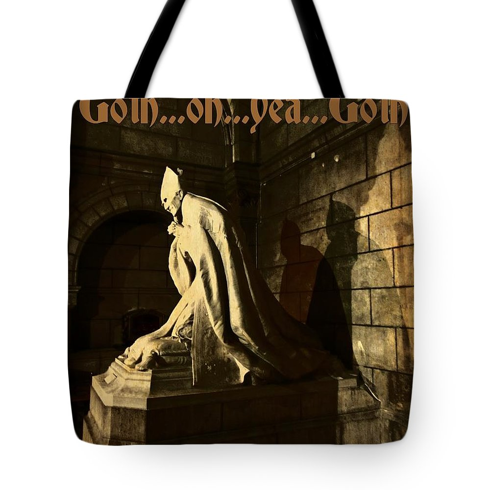 Goth Poster Tote Bag featuring the photograph Goth Poster by John Malone Halifax Graphic Arts