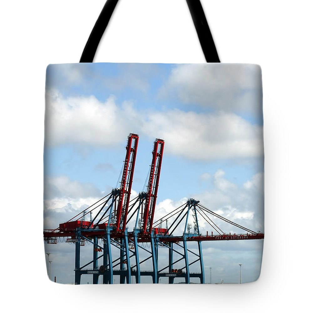Boat Tote Bag featuring the photograph Gothenburg Harbour 08 by Antony McAulay