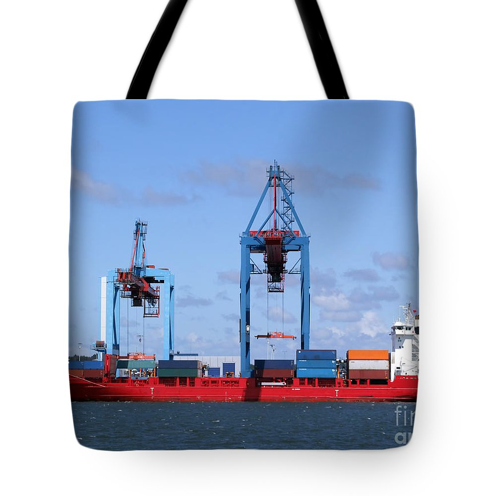 Boat Tote Bag featuring the photograph Gothenburg Harbour 09 by Antony McAulay