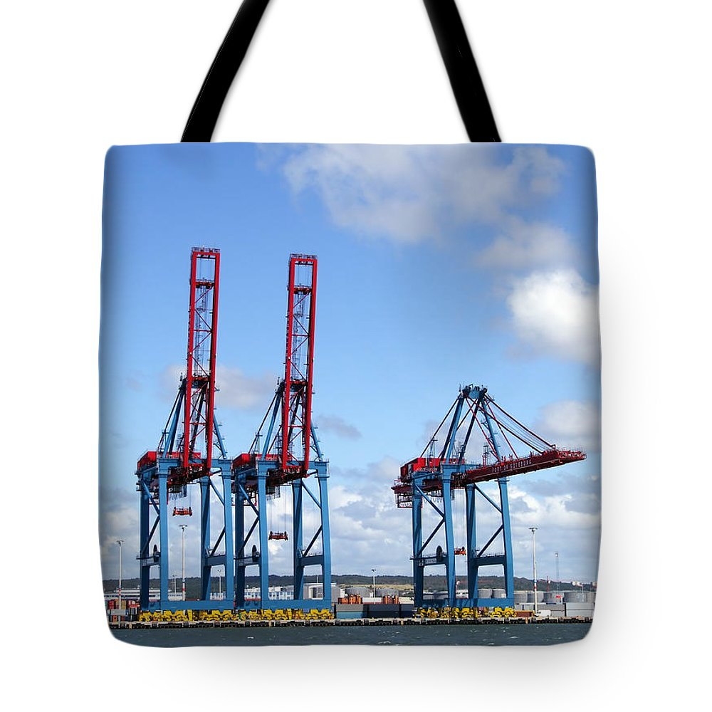 Boat Tote Bag featuring the photograph Gothenburg Harbour 12 by Antony McAulay
