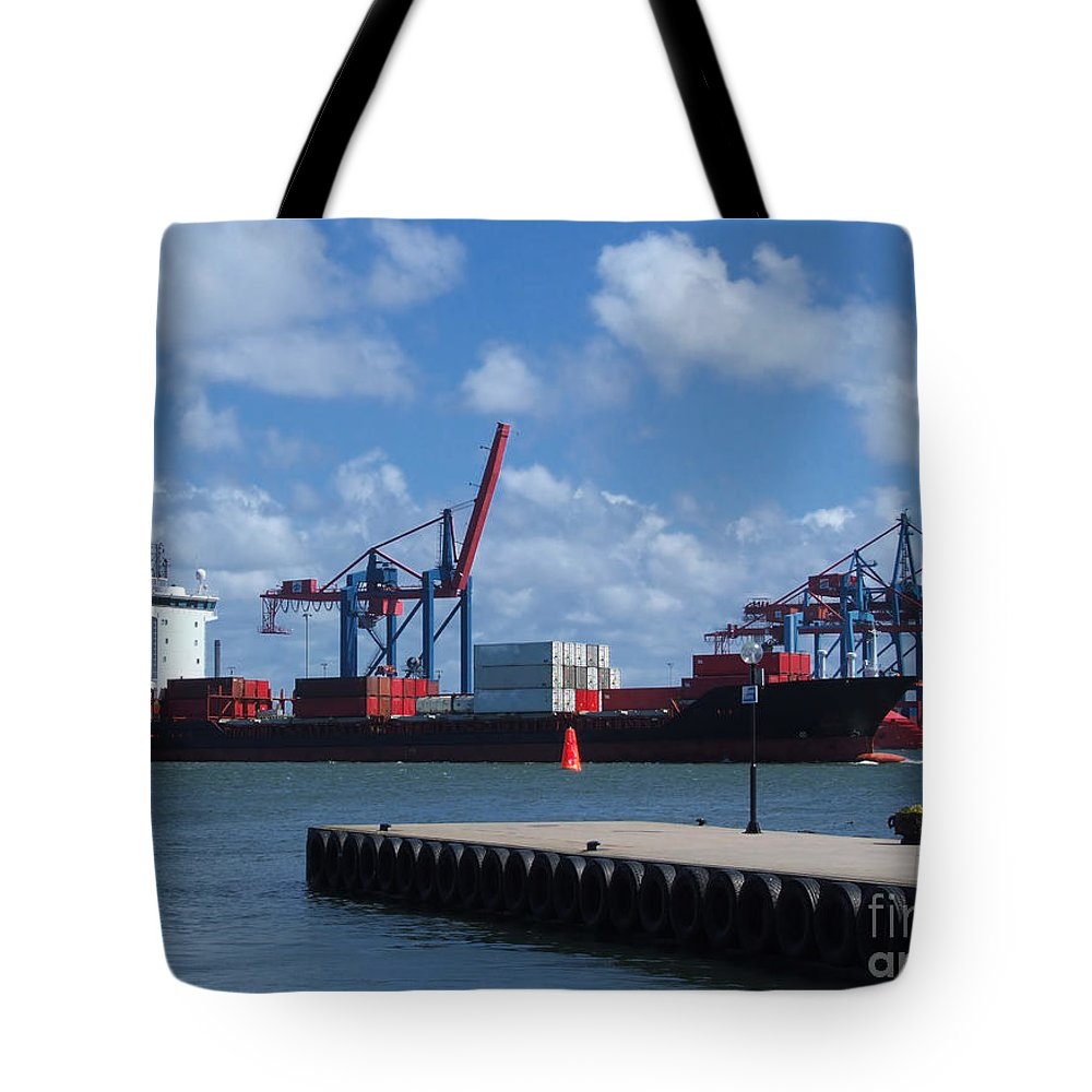 Boat Tote Bag featuring the photograph Gothenburg Harbour by Antony McAulay