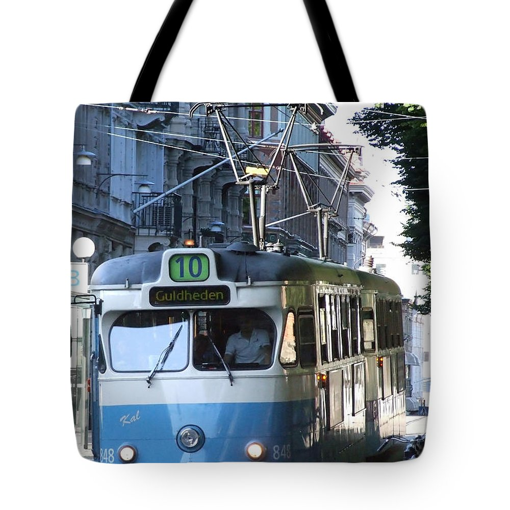 Gothenburg Tote Bag featuring the photograph Gothenburg Tram 01 by Antony McAulay