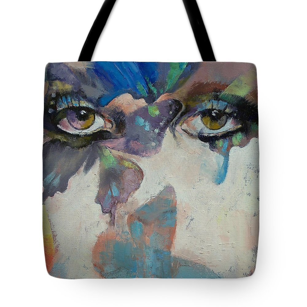 Gothic Tote Bag featuring the painting Gothic Butterflies by Michael Creese