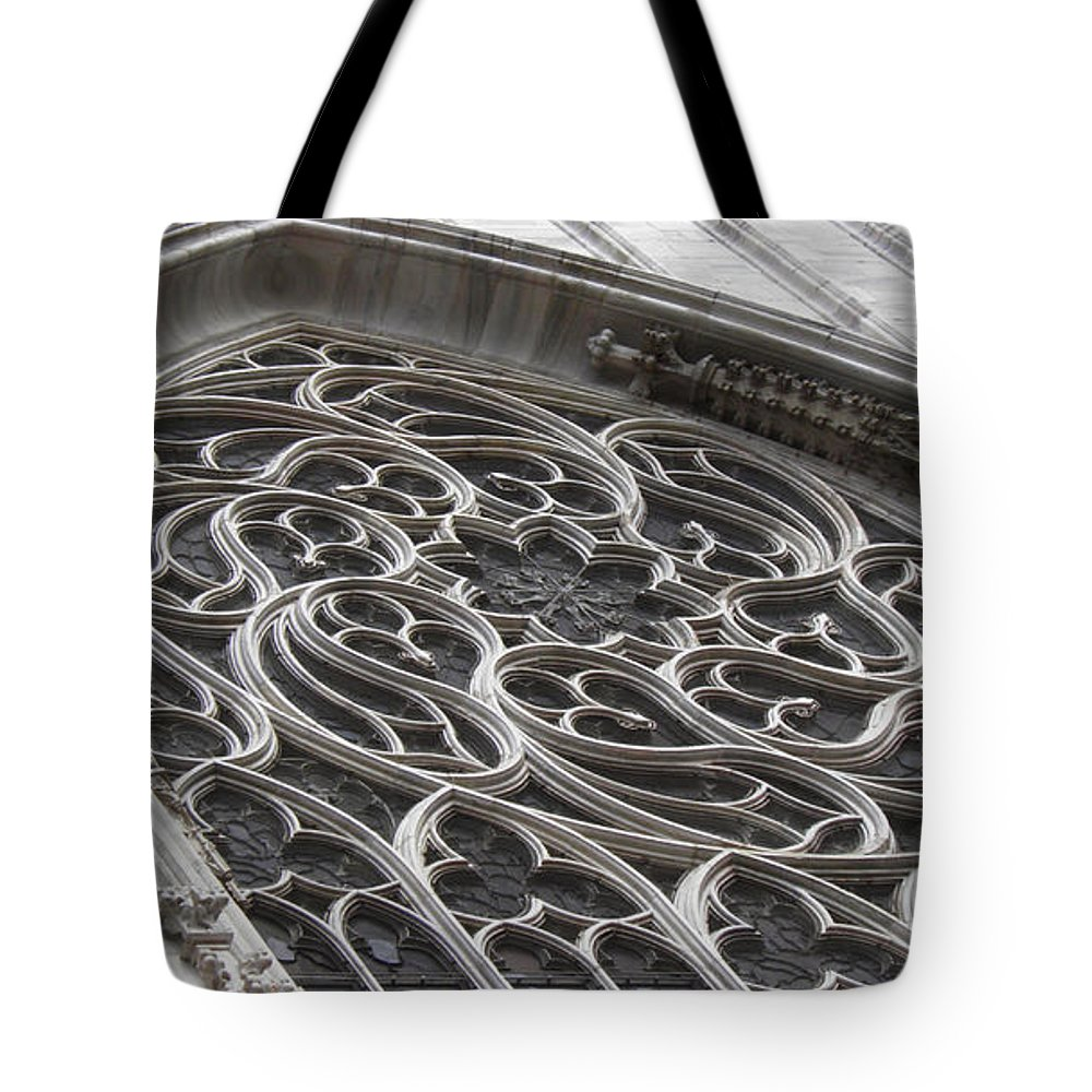 Gothic Tote Bag featuring the photograph Milan Gothic Cathedral Apse Window by Leone M Jennarelli