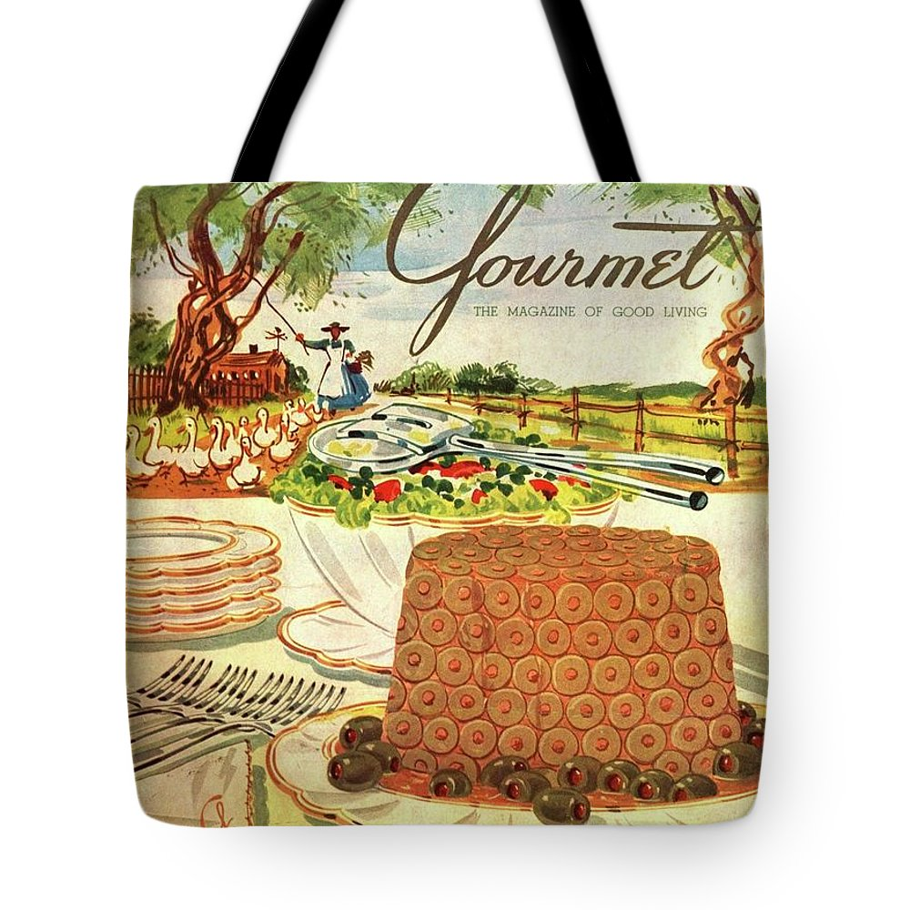 Food Tote Bag featuring the photograph Gourmet Cover Featuring A Buffet Farm Scene by Henry Stahlhut