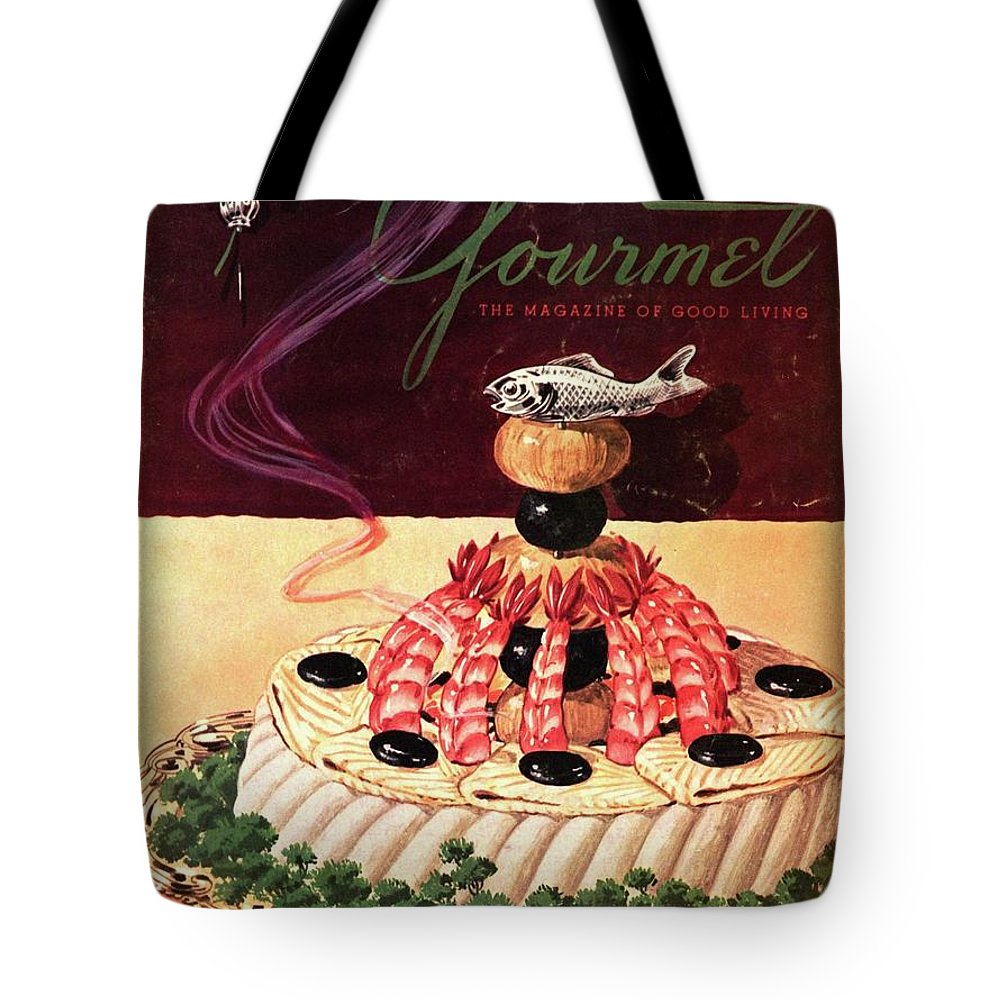 Food Tote Bag featuring the photograph Gourmet Cover Illustration Of A Filet Of Sole by Henry Stahlhut
