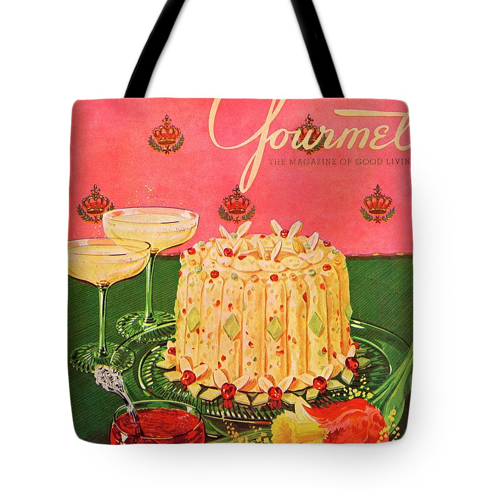 Illustration Tote Bag featuring the photograph Gourmet Cover Illustration Of A Molded Rice by Henry Stahlhut