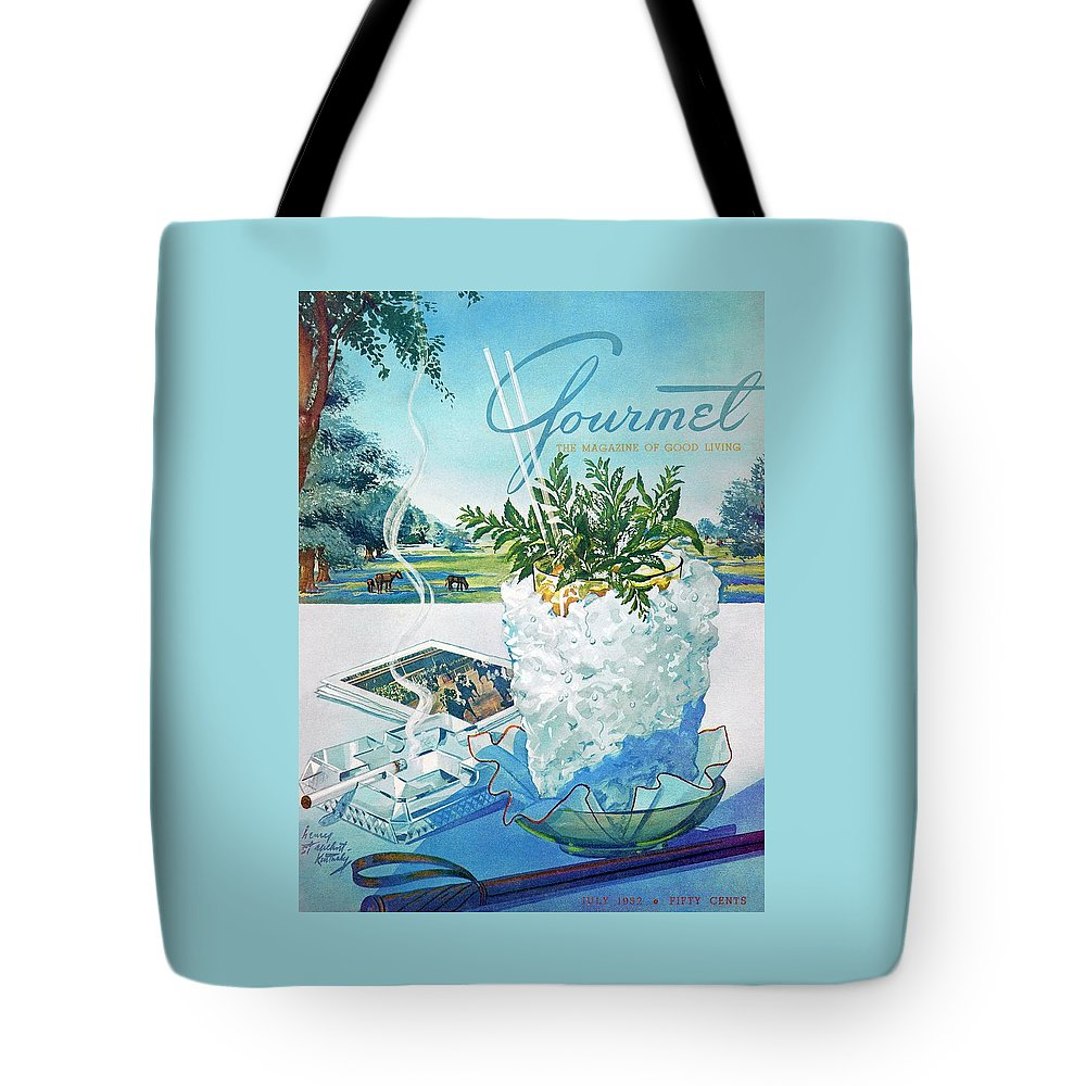 Gourmet Cover Illustration Of Mint Julep Packed Tote Bag for Sale by Henry  Stahlhut