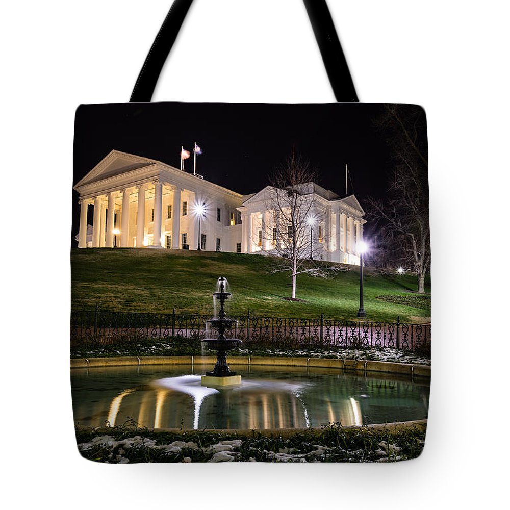Rva Tote Bag featuring the photograph Governor's Mansion by Stacy Abbott