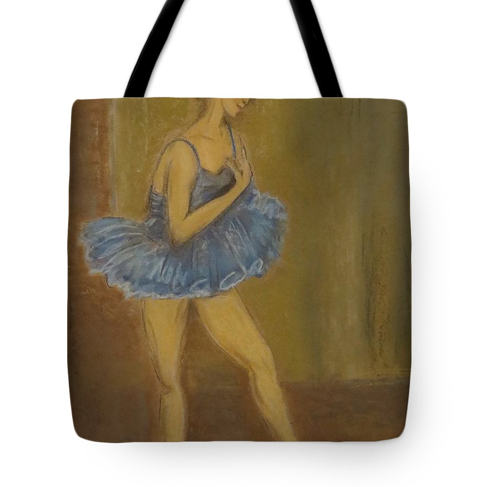 Ballet Tote Bag featuring the pastel Grace by C Pichura