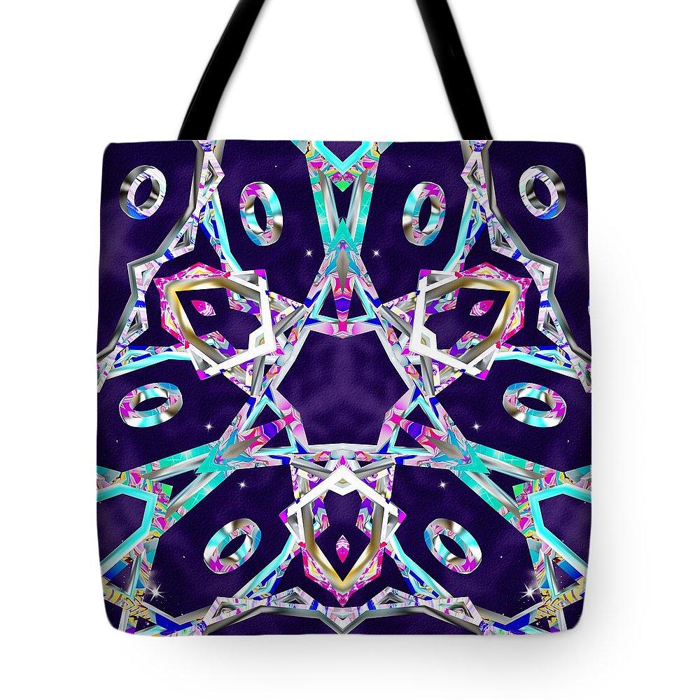 Sacredlife Mandalas Tote Bag featuring the digital art Graceful Equilibrium by Derek Gedney