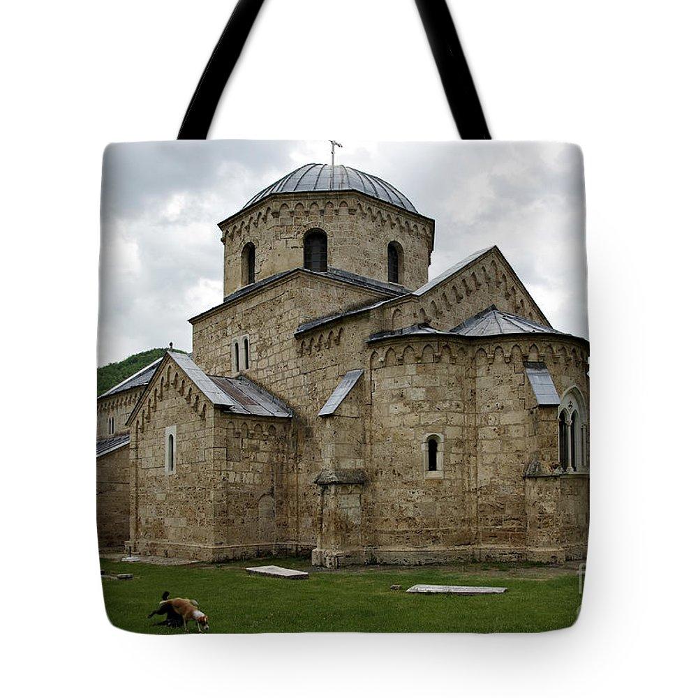 Ancient Tote Bag featuring the photograph Gradac Monastery by Zoran Berdjan