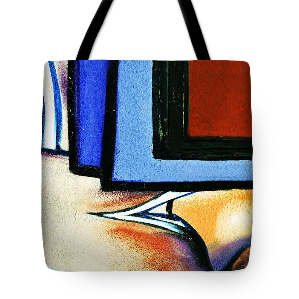 Graffitri Tote Bag featuring the photograph Graffiti Abstract by Pamela Patch