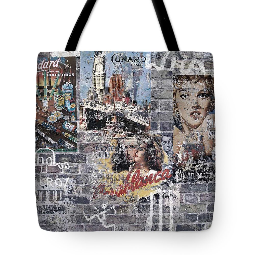 Graffiti Tote Bag featuring the digital art Graffiti Walls by Neil Finnemore