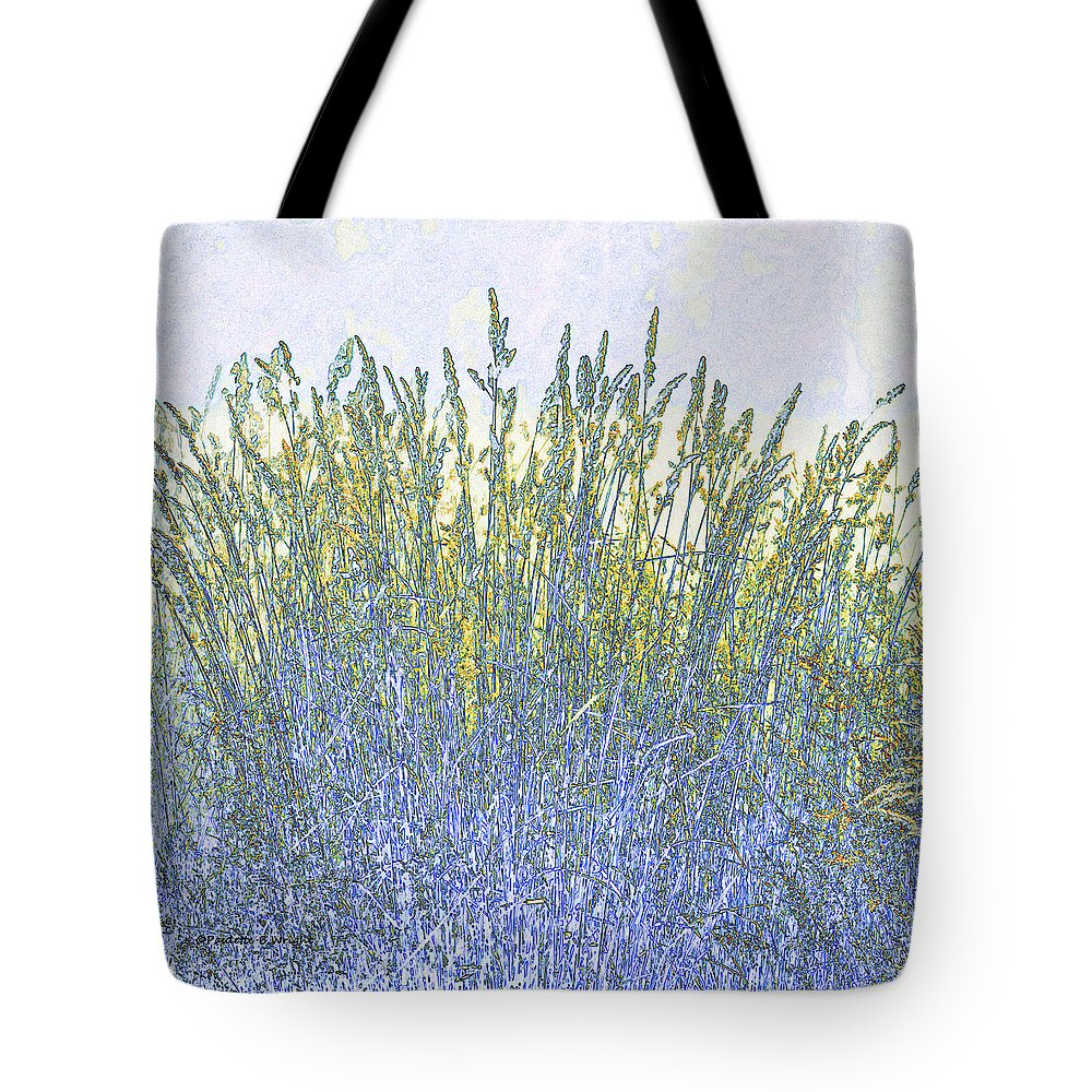 Featured Tote Bag featuring the photograph Grains by Paulette B Wright