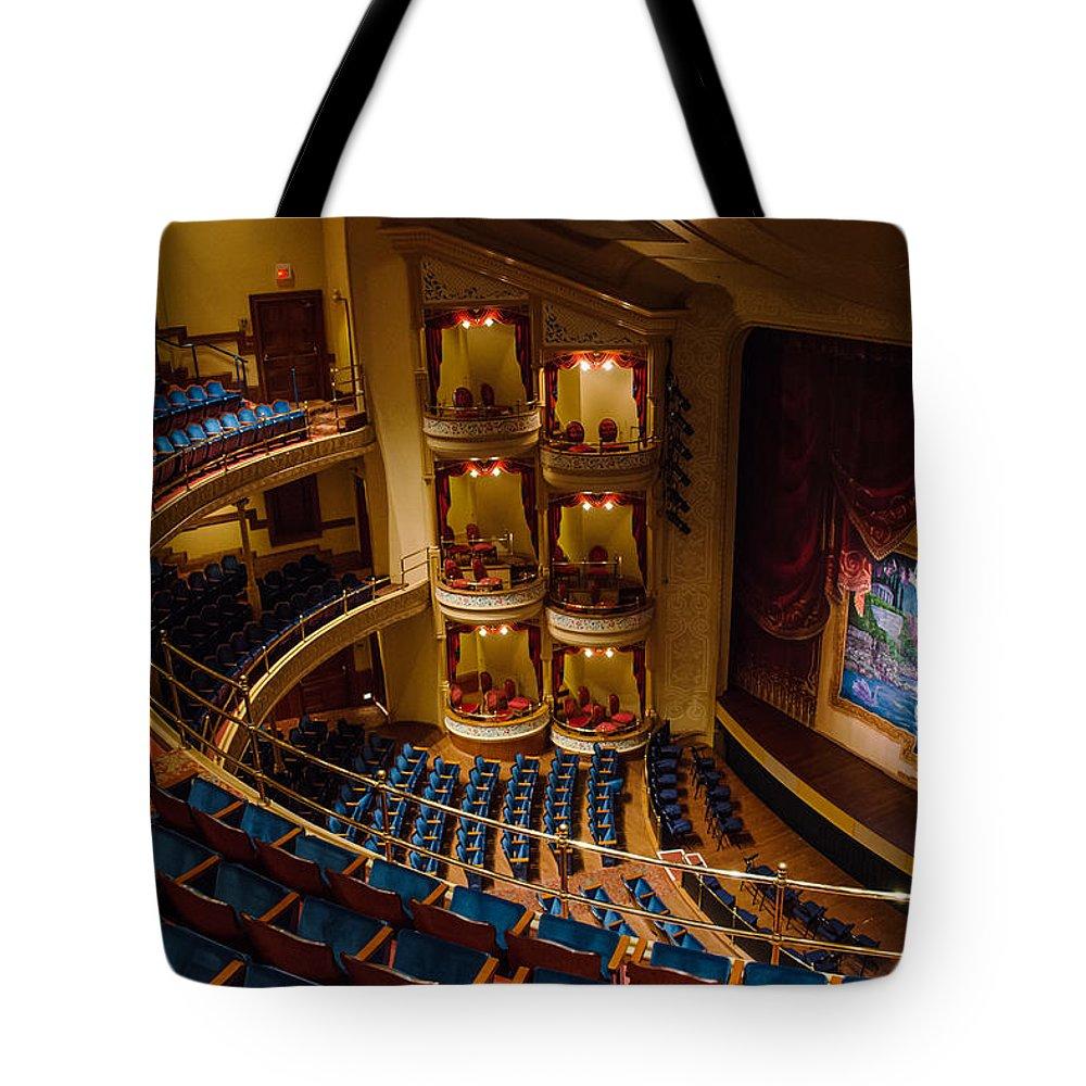 Galveston Tote Bag featuring the photograph Grand 1894 Opera House - Galveston by Allen Sheffield