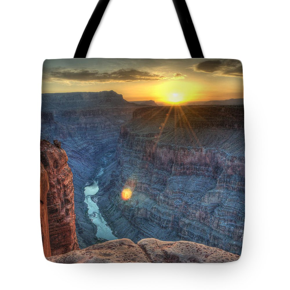 Grand Canyon Tote Bag featuring the photograph Grand Canyon First Light by Bob Christopher