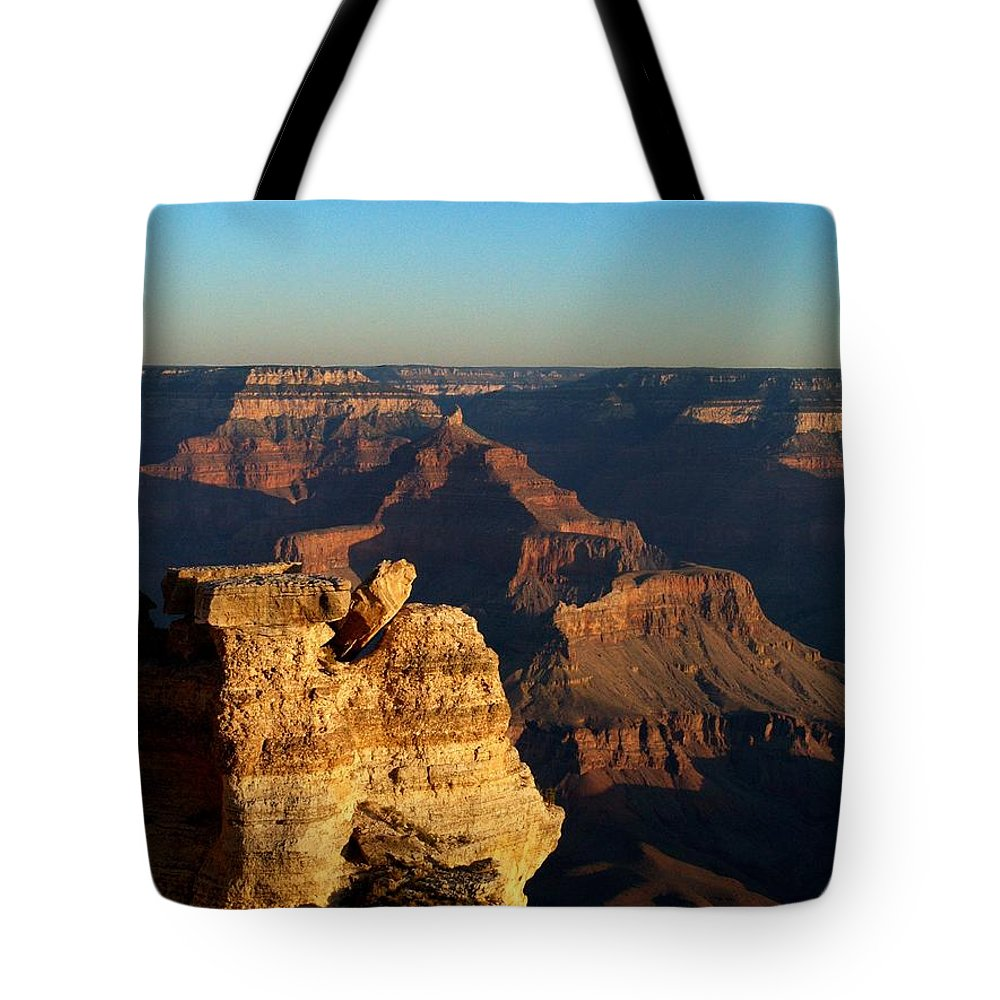 Grand Canyon Tote Bag featuring the photograph Grand Canyon Sunrise Two by Joshua House