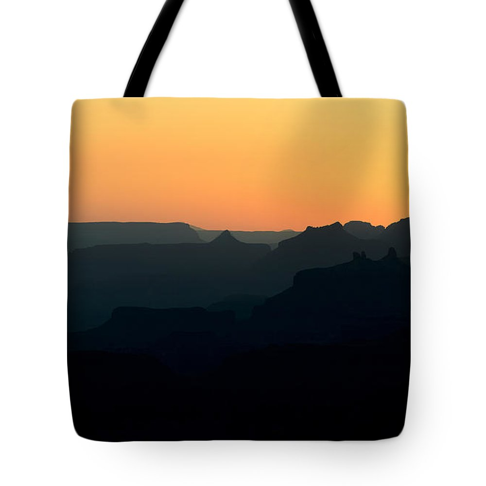 Grand Canyon Tote Bag featuring the photograph Grand Canyon Sunset by Robert Warrington