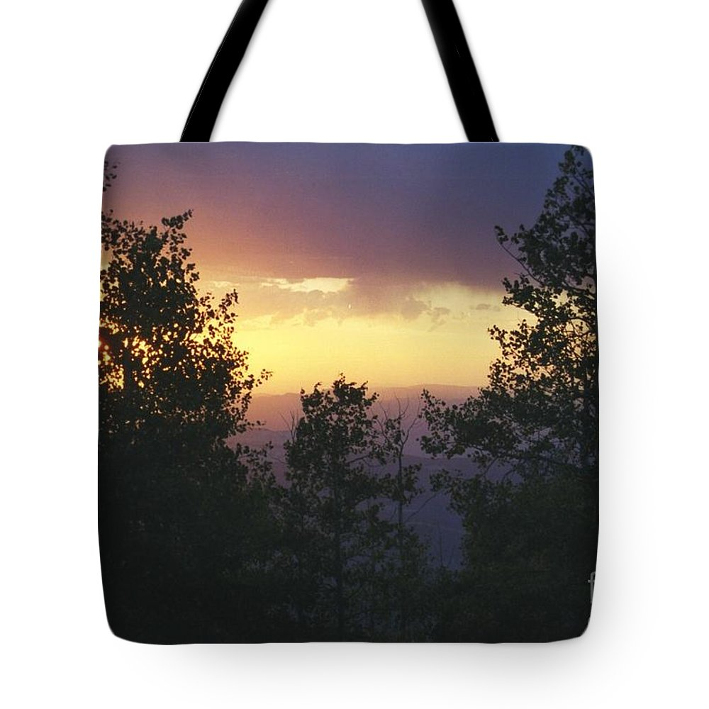 Grand Mesa Tote Bag featuring the photograph Grand Mesa Sunset by Brandi Maher
