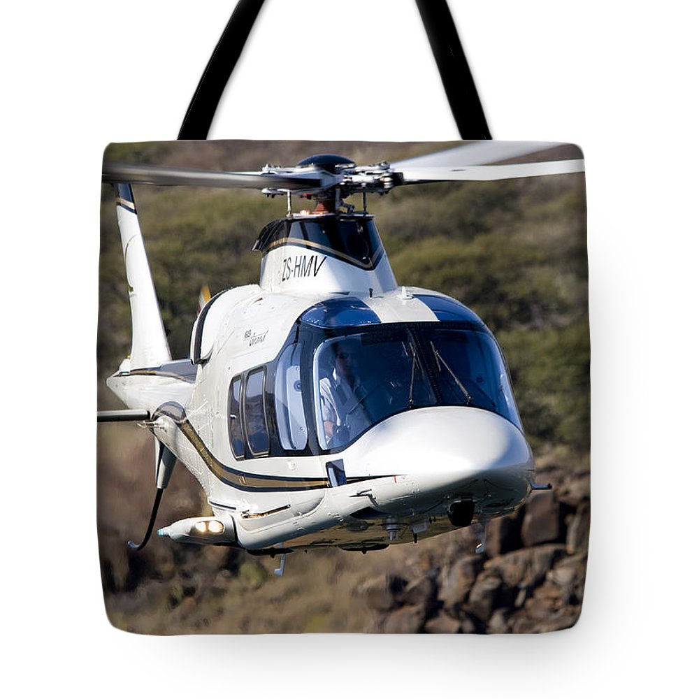 Agustawestland A109 Grand Tote Bag featuring the photograph Grand by Paul Job