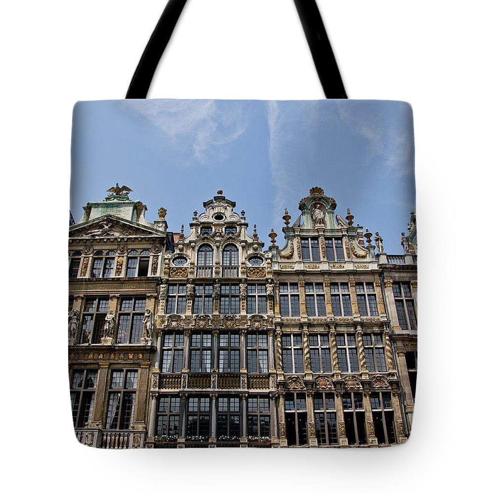 Grand Place Tote Bag featuring the photograph Grand Place Brussels by Brothers Beerens