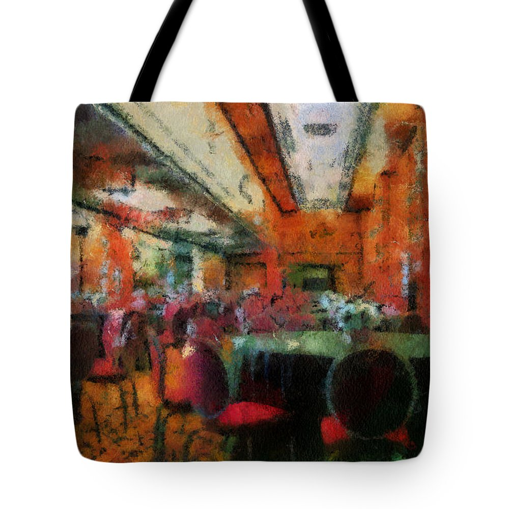 Queen Mary Tote Bag featuring the photograph Grand Salon 05 Queen Mary Ocean Liner Photo Art 03 by Thomas Woolworth