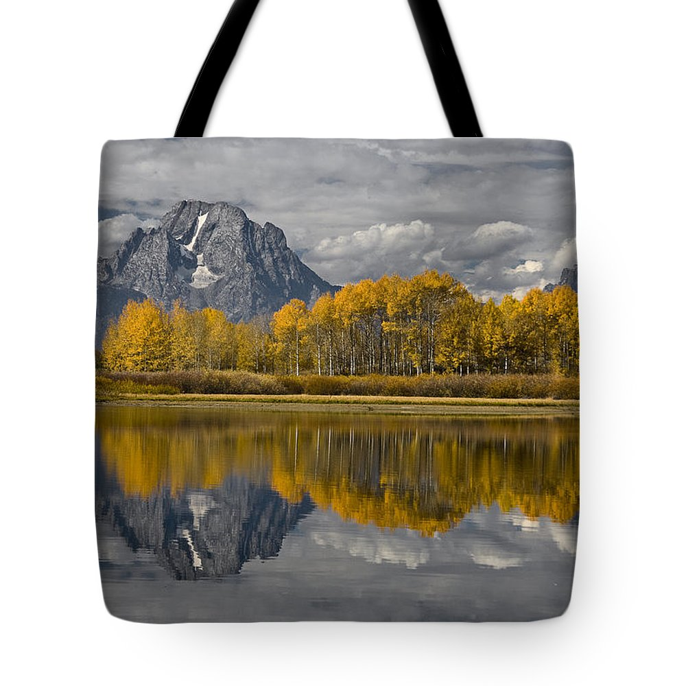 Grand Teton Gold Tote Bag featuring the photograph Grand Teton Gold by Wes and Dotty Weber