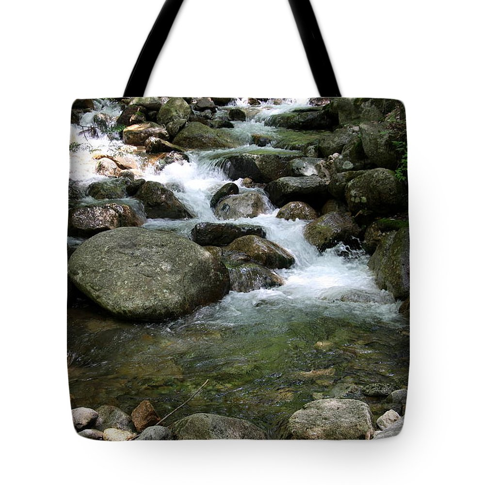 Pemigewasset River Tote Bag featuring the photograph Granite Boulders In A River by Christiane Schulze Art And Photography