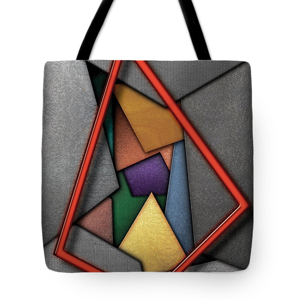 Abstract Tote Bag featuring the digital art Granito by James Kramer