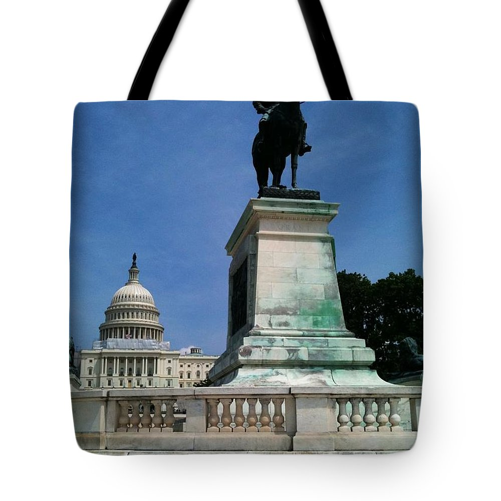 Grant Tote Bag featuring the photograph Grant And The Capitol by Lois Ivancin Tavaf