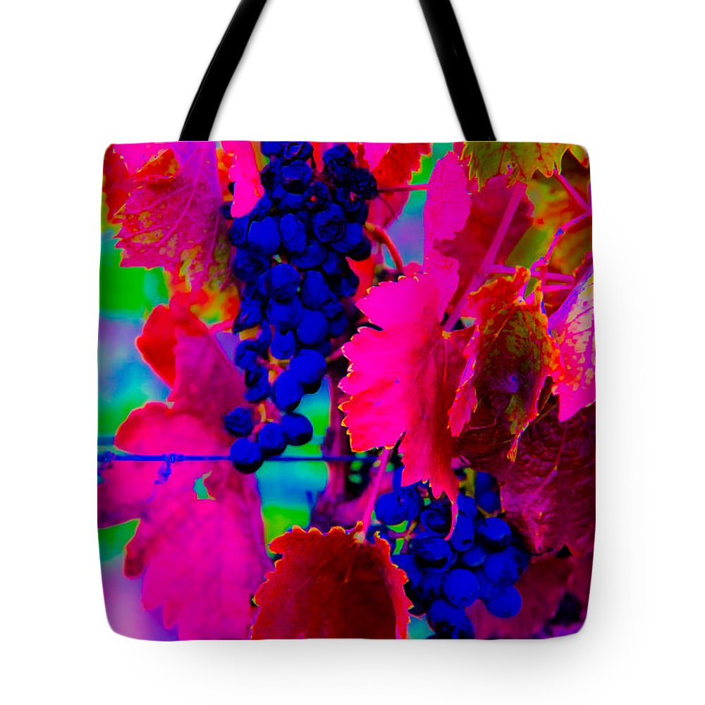 Brilliant Color Tote Bag featuring the photograph Grape Acid by Kent Nancollas