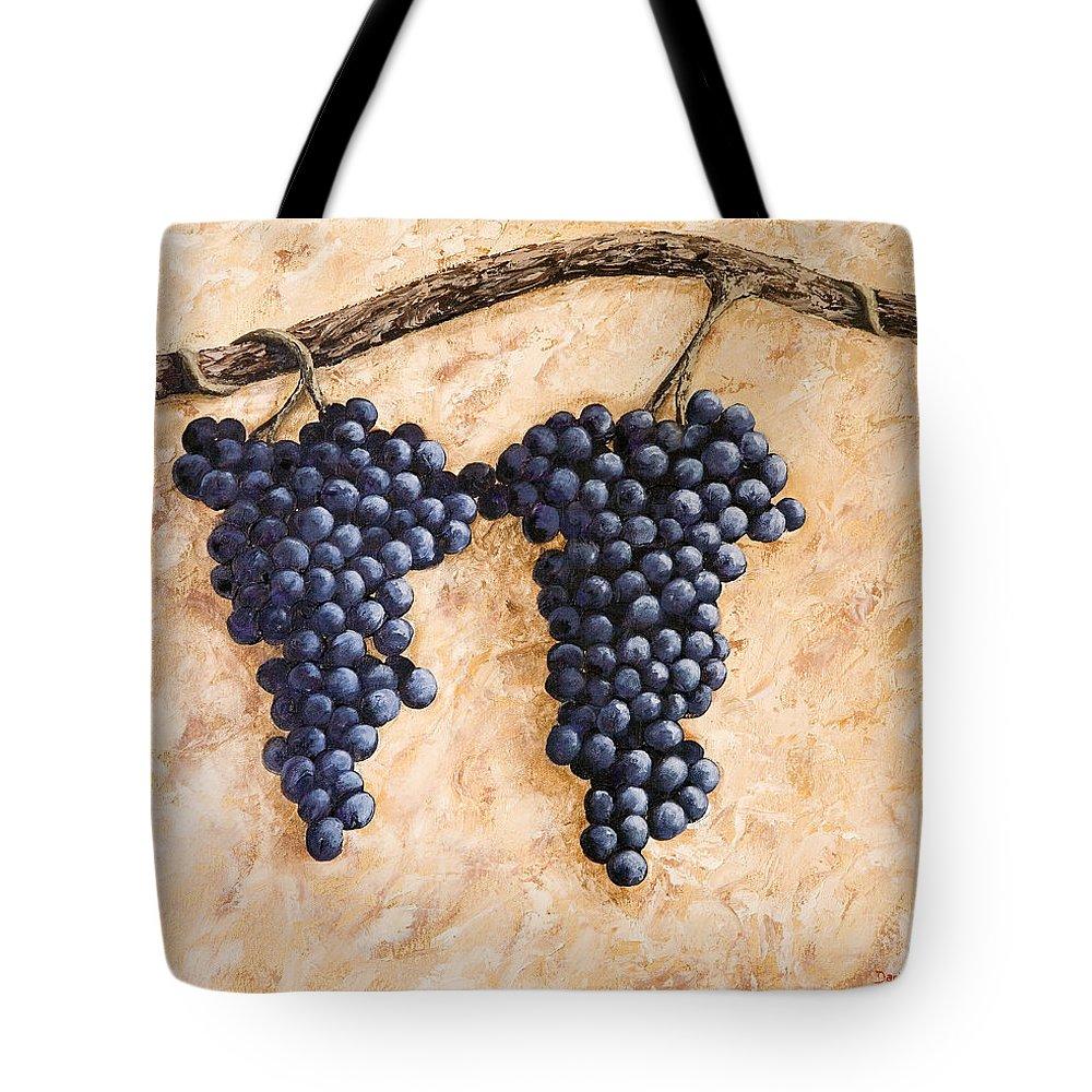 Grape Vine Tote Bag featuring the painting Grape Vine by Darice Machel McGuire