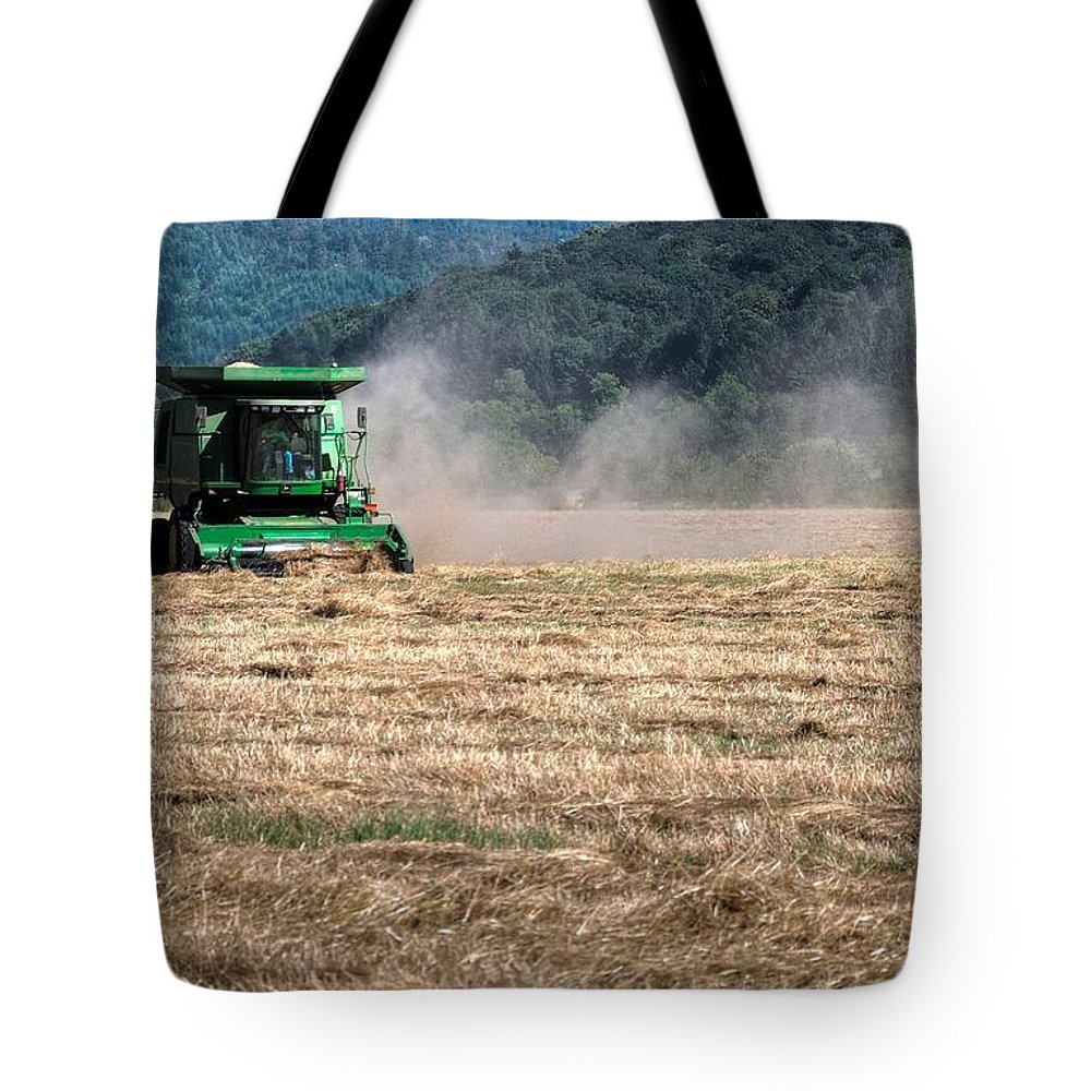 Ag Tote Bag featuring the photograph Grass Harvest 16000 by Jerry Sodorff